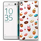 Caseink - Coque Housse Etui pour Sony Xperia XA Ultra 6 [Crystal HD Collection Foodie Design Donuts - Rigide - Ultra Fin - Imprimé en France]