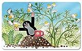 Unbekannt Brettchen Frühstücksbrettchen Maulwurf Kamille melamin 23,5x14,5 cm
