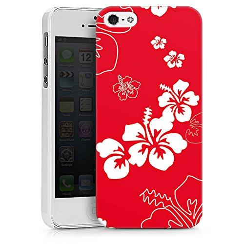 Apple iPhone X Silikon Hülle Case Schutzhülle Sommer Blumen Muster Hard Case weiß