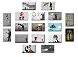 time4art BANKSY Print Canvas Bild 17 x 40x30cm There is always Hope Doctor Love Leinwand auf Keilrahmen