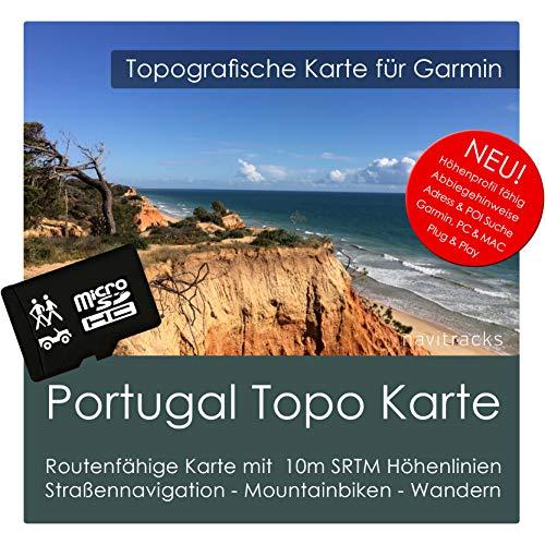 Portugal Garmin Karte TOPO 4 GB microSD. Topografische GPS Freizeitkarte für Fahrrad Wandern Touren Trekking Geocaching & Outdoor. Navigationsgeräte, PC & MAC Garmin Streetpilot C580