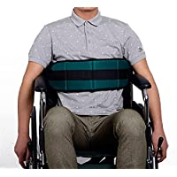 QEES Cinturón ajustable para silla de ruedas, cinturón de cojín suave para cama con arnés de seguridad SYD02
