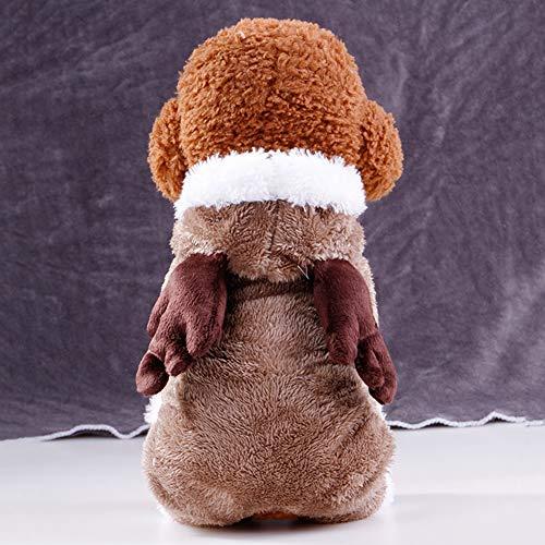 LEUM SHOP Hunde-Kostüm für Herbst/Winter, Elch-Muster, weiche Kleidung, Baumwolle, Wapiti, - Sally Kostüm Muster