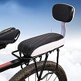 Arvin87Lyly Fahrrad Rücksitz Polstersattel Kindersitze Mit Abnehmbar Rückenlehne, Rutschfestem Stoßfest Für Befestigung Am Gepäckträger