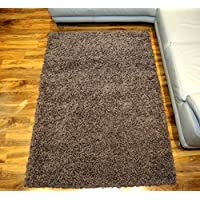 Soft Touch Shaggy Taupe Thick Luxurious Soft 5cm Dense Pile Rug. Available in 7 Sizes (160cm x 220cm)