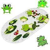 Anlass Kids Cartoon Non Slip Mats Mildew Resistant Non Slip Mats for Children Frog
