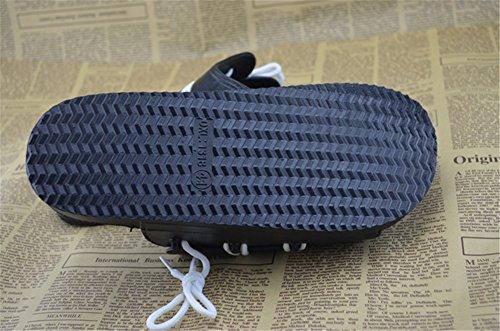 Fortuning's JDS design élégant hommes sandales de plage chaussures d'été Noir