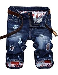cb37daa9320a Short Homme en Jean Tissu Fin Confortable Bermuda Fashion Fermeture zippé