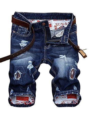 Short homme en jean tissu fin confortable bermuda fashion fermeture