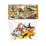 Tiere Zoo Kinder- Spielfiguren als Set - ideal als Beschäftigungsspielzeug / kleines Geschenk / Mitgebsel für Kindergeburtstag oder Motto Party - tolles Partyzubehör zum Auffüllen der Mitgebsel Tüte für Kinder P03