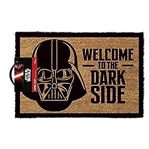 1art1 Star Wars – Darth Vader, Willkommen Auf Der Dunklen Seite Fußmatte Innenbereich und Außenbereich | Design Türmatte 60 x 40 cm