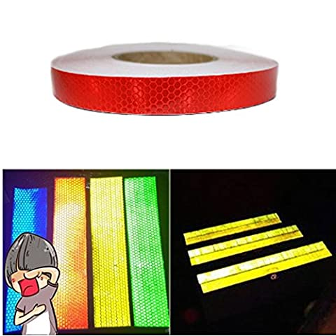 Tuqiang® 25 mm x 5 m Reflective Tape Self-Adhesive Safety Warning Conspic Uity Night Reflective Tape Film Sticker