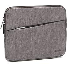 Evecase Funda para Tablet de 7 a 8 pulgadas, Bolsa Protectora de Tela Poliéster Resistente al Agua, Series Slash, Gris