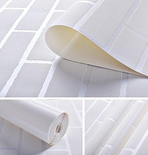 GaoHX Wallpaper 3D Ziegel-Muster Der Ziegel In Der Mediterranen Kleidung Wohnzimmer Wohnzimmer Tv Weiße Ziegel Hintergrundbild Speichern,D