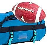 AMERICAN FOOTBALL + SPORTTASCHE | Wasserfeste 50 Liter Tasche blau | Sport Grip Amerika Official 29 cm Ball ~ds5