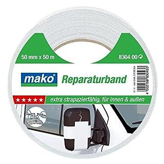 Mako Reparaturband Steinband Gewebeband Panzerband Panzertape weiß