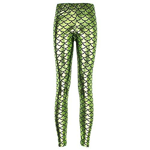 Pantalons Femmes Étendue Pantalon Taille Plus Taille Haute Pantalon Yoga Collants Course Leggings Fitness Pantalons Sport Imprimé Exercices Yying Vert Clair