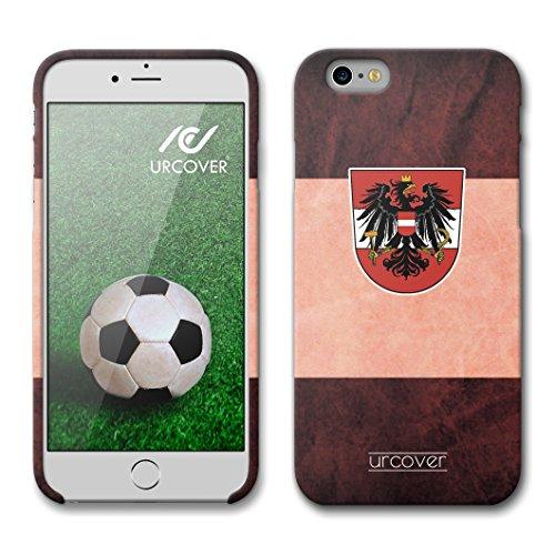 Urcover® Apple iPhone 6 / 6s WM 2018 Hülle [ TEAM Albanien ] Fussball Handyhülle | Fußball Schutzhülle | Sport Case | TPU / Silikonhülle Cover | Weltmeisterschaft 2018 Backcase Fahne Fanartikel | Smar Österreich
