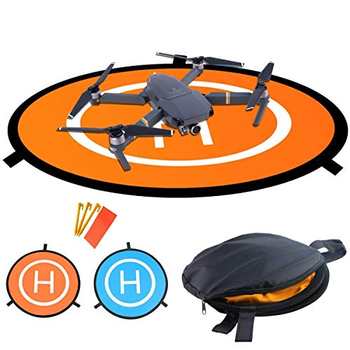 LVHERO Drohne Landeplatz, Wasserdichte Universal D 110 cm Tragbare Faltbare Landing Pads für RC Drones Hubschrauber, PVB-Drohnen, DJI Mavic Pro Phantom 2/3/4 / Pro, Antel Robotic, 3DR Solo -
