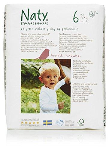 Naty by Nature Babycare Ökowindeln - Größe 6 (16+ Kg), 4er Pack (4 x 18 Stück)