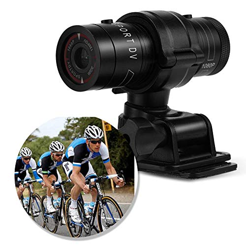 Zunate Mini-F9-Kamera, Full HD 1080 P Wasserdichte Mini Sport DV Kamera Fahrrad Motorrad Helm Action DVR Video Cam Perfekt für Outdoor-Sportarten - Motorrad-helm Abenteuer