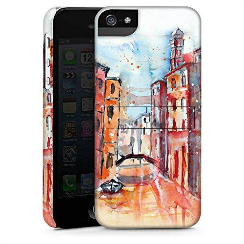 Apple iPhone 5s Housse étui coque protection Venise Venise Venise CasStandup blanc