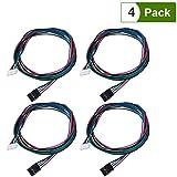 UEETEK 4 Pcs Bipolar Stepper Motor Cables de 100 cm de largo para NEMA 17 utilizados en Reprap 3D Impresoras Máquinas CNC