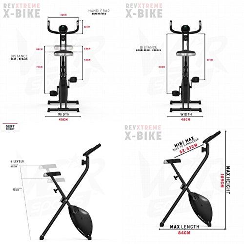 Hometrainer, X-Bike, zusammenklappbar, magnetisch, für Fitness, Cardio, Workout, Gewichtsabbau - 4