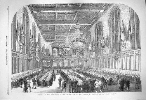 Le Clergé 1865 de Fils de Festival Corporation Régalent Marchant [Cuisine et Maison] par original old antique victorian print