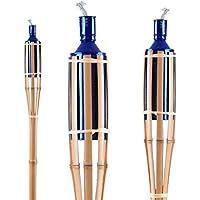 3 set torcia decorazione bambù portico giardino prato spina Lampada