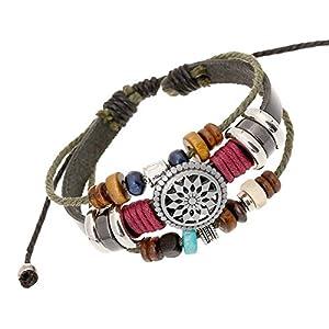 Mehrschichtiges Perlenarmband im böhmischen Ethno-Stil, handgewebtes Vintage-Armband, 30 cm langes Legierungsleder,wunderbares Geschenk für Sie und Ihre Familie