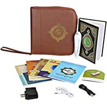 Hitopin Digital Quran Pen Reader Leather Bag Muslim Pen Qur'an Learner 30Languages and Reciters 5 Small Books Word by Word function Free Downloading Voices English Arabic French Spanish German etc
