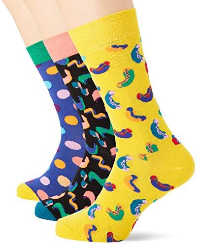 Happy Socks Damen Happy Birthday Gift Box Socken, Mehrfarbig (Multicolour 270), 4/7 (Herstellergröße: 36-40)