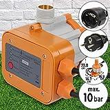 Regolatore della Pompa di Acqua | 1,1 kW, Pressione 10 Bar, 220-240 V, con Cavo | Controller di Pressione di Pompa, Pressostato, Press Control