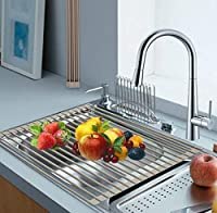 Plantex Stainless Steel Kitchen Sink Fruit and Vegetable Drying Drain Rack / Folding Sink Drying Rack - Assorted  Features:-  Sticks: 14 Color: Assorted Size: 46 Cm X 35 Cm X 1.5 Cm Can be used as heat resistant trivet mat on countertop Full Silicon...