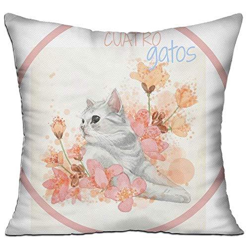 zengjiansm Kissenbezüge Cuatro Gatos Lectura Conjunta Decorative Throw Pillow Case Cushion Cover 18