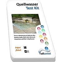 Selfcontrol / UW 5525 D 01 / Analyse de l'eau de source / bactéries, plomb, pesticides, cuivre, fer, nitrite, nitrate, pH, dureté de l'eau et chlore