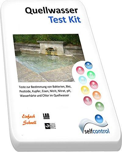 UW 5525 D 01 / Quellwasser Test Kit / Bakterien, Blei, Pestizide, Kupfer, Eisen, Nitrit, Nitrat, pH, Wasserhärte, Chlor Selfcontrol