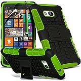 ( Green ) Nokia Lumia 930 Tough Survivor Fest Rugged Shock Proof Heavy Duty Case W / Back-Stand, LCD-Display Schutzfolie, Poliertuch und Mini-versenkbaren Stift durch Spyrox