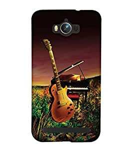 PrintHaat Designer Back Case Cover for Asus Zenfone Max ZC550KL :: Asus Zenfone Max ZC550KL 2016 :: Asus Zenfone Max ZC550KL 6A076IN (guitar lover :: guitar player :: Musical design :: Music note design :: Instrumental design :: Melody design :: Music rock design :: love playing on guitar)