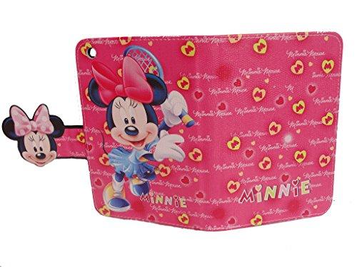 Ipad Mini 1/2/3, mit Standfunktion, Motiv: Mädchen, Motiv Disney Minnie Maus Magnet-Verschluss, goldfarben (Ipad Minnie 3)