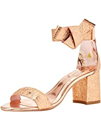 3862a65ca8f0 Amazon.co.uk  Gold - Sandals   Women s Shoes  Shoes   Bags