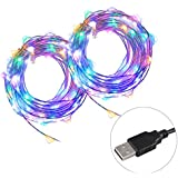 LED Fairy Lights 33 ft 100 LEDs USB Copper Wire Strip Light for Home and Outdoor Decor Waterproof Multi Colored
