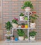 ZENGAI Grande Cremagliera Per Fioriera Arte Del Ferro Multiuso Grassetto Pianta Chlorophytum Succulente Espositore (Colore : Bianca)