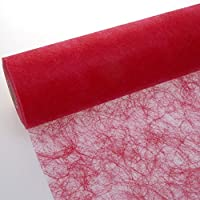 Deko AS GmbH sizo Flor Banda Mesa Rojo 20cm Rollo de 25m 60009de R 200