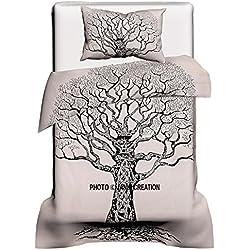 Funda de edredón con diseño de árbol de la vida, color blanco Edredones Baratos