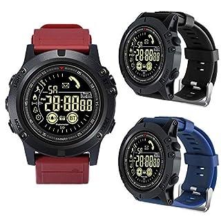 Aihome IP67 wasserdicht, intelligente aktive Uhr, Stoppuhr-Sportuhr, Leuchtzifferblatt-Schrittzähler, unterstützende Samsung-Android-iOS-Remote-Kamera