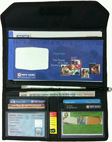Pareek Tatron (tough Material) cheque book pouch with number of pockets (set of 12) easily used for school and office purpose