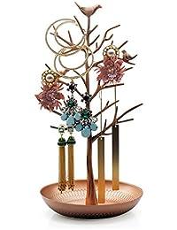 HQdeal–Soporte para joyas/Soporte Para Joyas/pendientes plana, color cobre