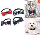 Aidle Cravate d'animal familier avec le collier réglable de chiot de troupeau de chien Types mignons de collier de cravate d'arc de chien